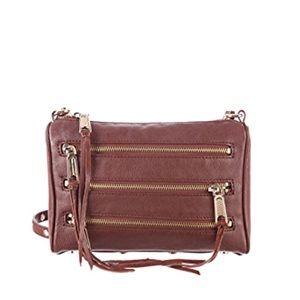 Rebecca Minkoff Whiskey Leather Mini 5 Zip Bag